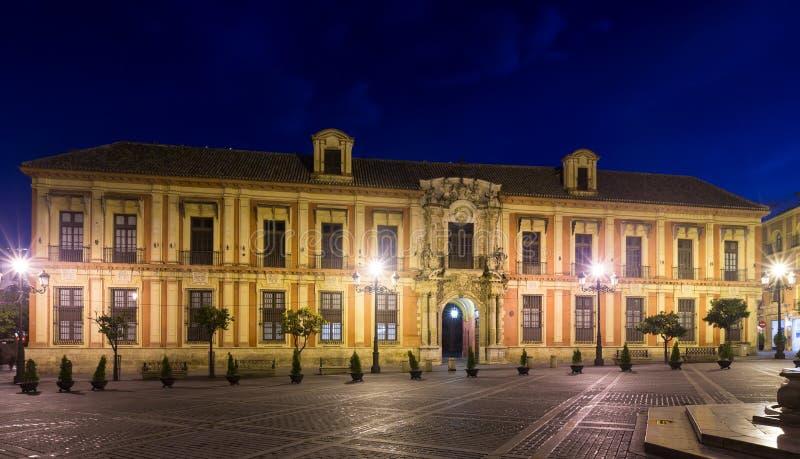 Il palazzo dell'arcivescovo Siviglia, Spagna immagini stock libere da diritti