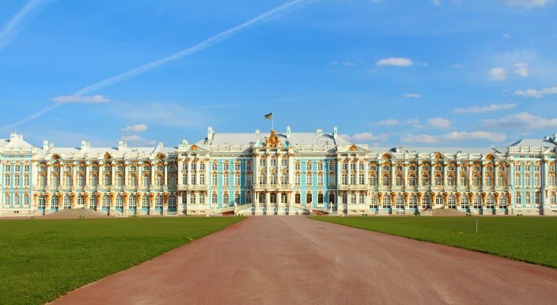 Il palazzo della Catherine La Russia, Tsarskoye Selo fotografie stock libere da diritti