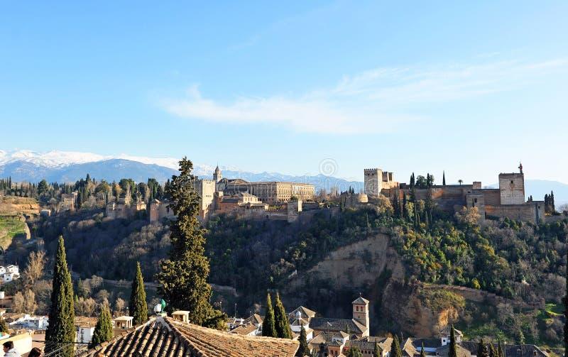 Il palazzo di Alhambra a Granada, Spagna immagini stock