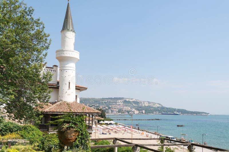 Il palazzo di Balchik, Bulgaria immagine stock