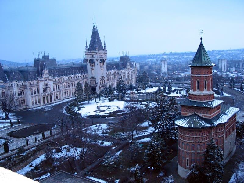 Il palazzo di cultura in Iasi, Romania immagini stock libere da diritti