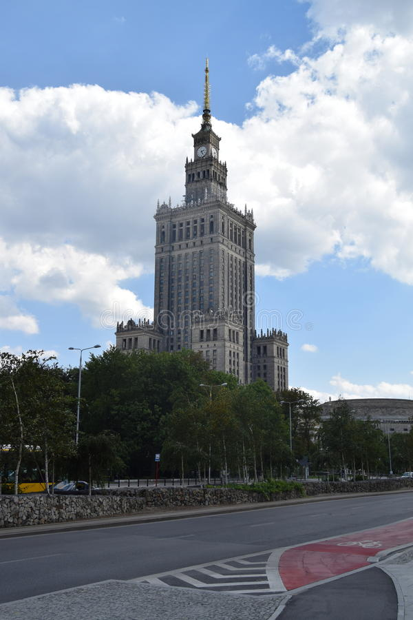 Il palazzo di cultura, Varsavia Polonia immagine stock