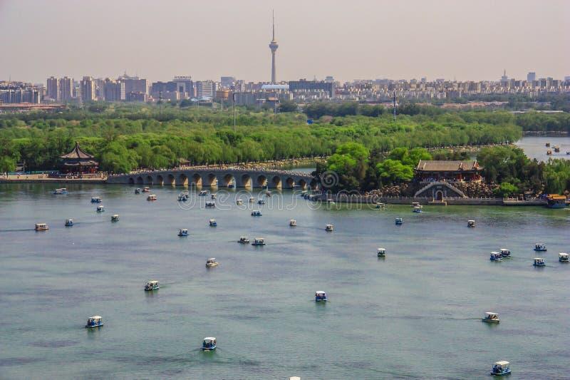 Il palazzo di estate sbalorditivo di Pechino, Cina fotografia stock