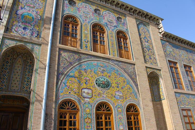 Il palazzo di Golestan è il precedente complesso reale di Qajar nella capitale dell'Iran, Teheran immagine stock libera da diritti