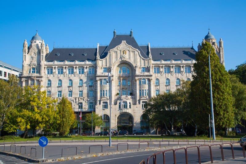 Il palazzo di Gresham a Budapest fotografie stock