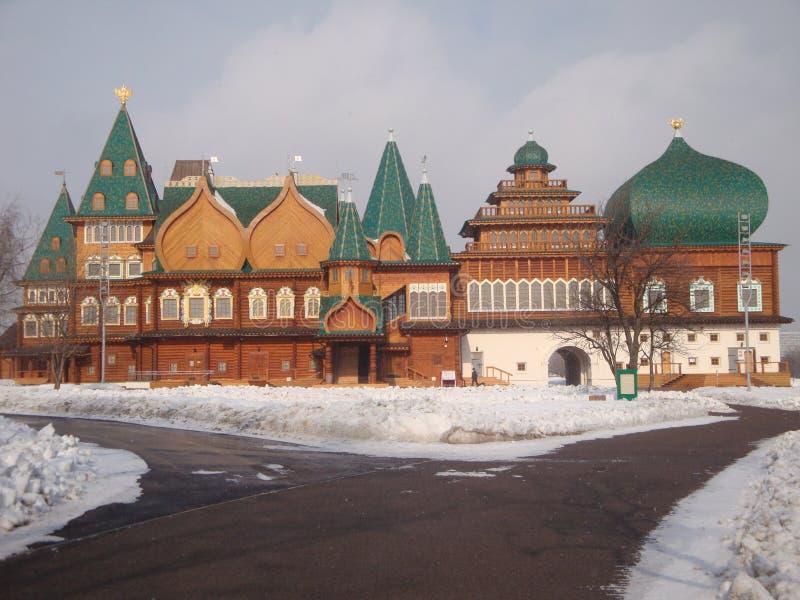 Il palazzo di Kolomna dello zar Alexei Mikhailovich Royal Palace di legno costruito nel villaggio di Kolomenskoye vicino a Mosca immagini stock libere da diritti