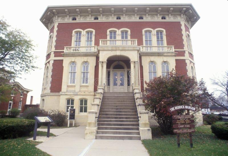 Il palazzo di Reddick, Ottawa, Illinois immagine stock libera da diritti