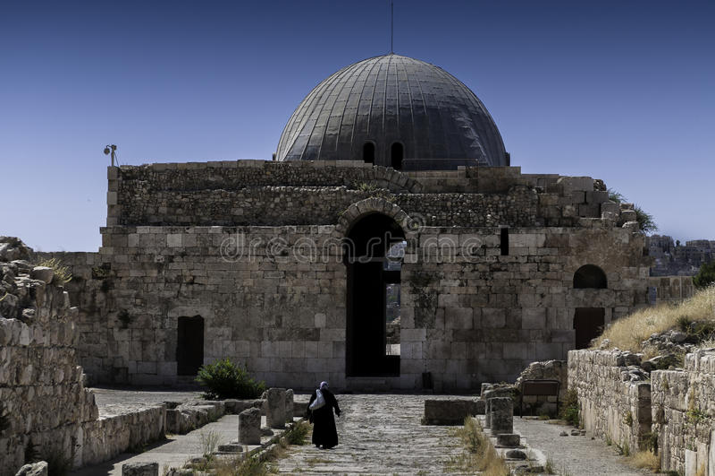 Il palazzo di Umayyad a Amman, Giordania immagine stock