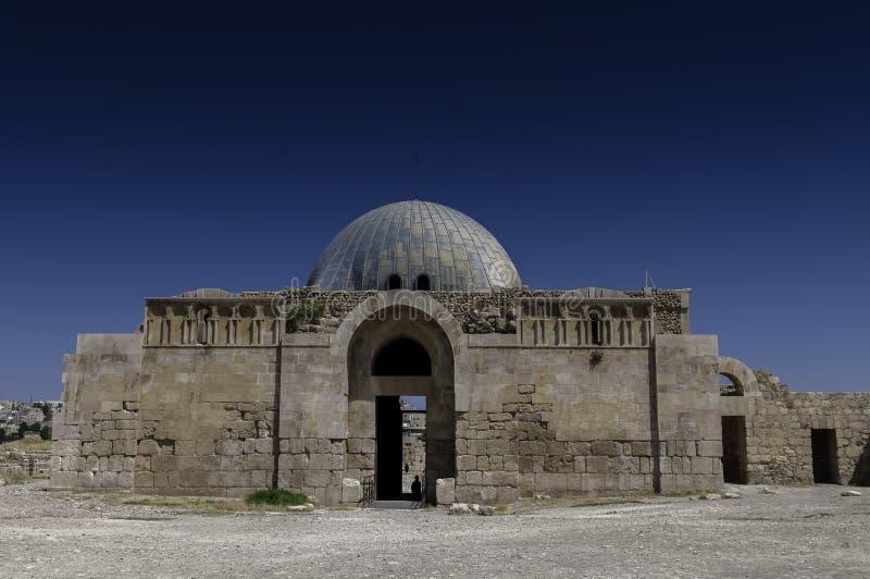 Il palazzo di Umayyad a Amman, Giordania immagine stock libera da diritti