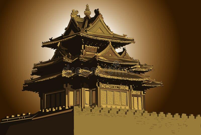 Il palazzo imperiale illustrazione vettoriale