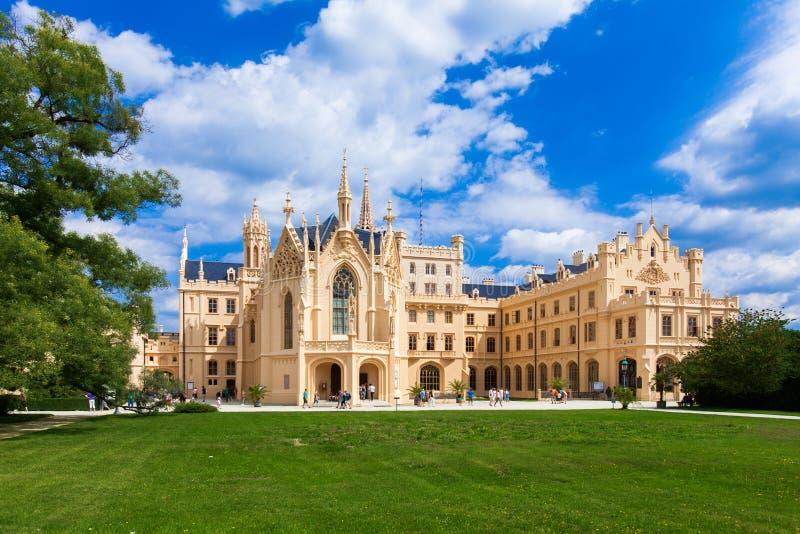 Il palazzo Lednice-Valtice, repubblica Ceca. Unesco immagine stock libera da diritti