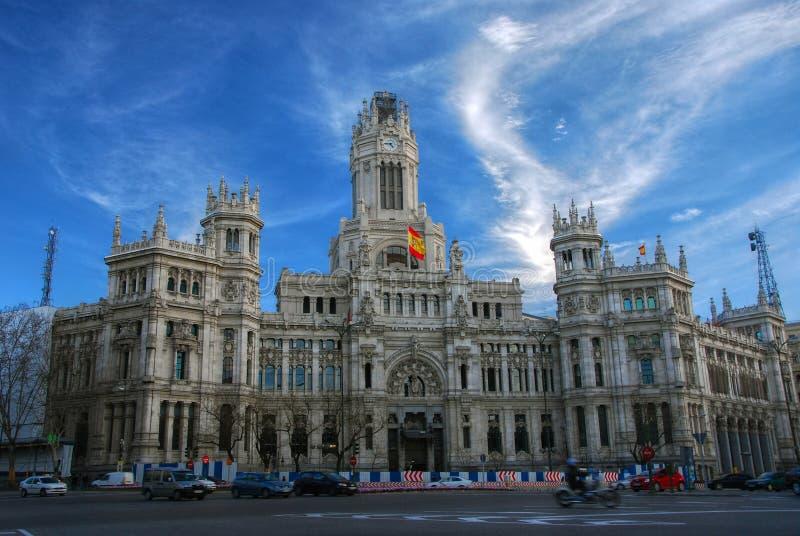 Il palazzo nei cibeles della plaza, Madrid fotografie stock