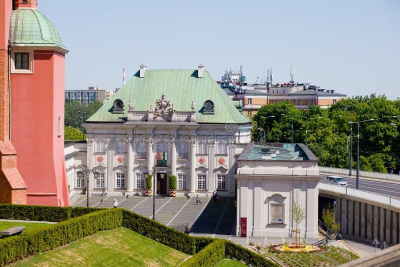 Il palazzo presidenziale a Varsavia immagine stock