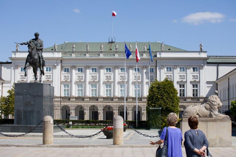 Il palazzo presidenziale a Varsavia fotografie stock libere da diritti