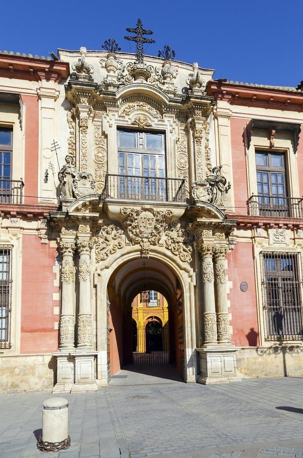 Il palazzo Sevilla, Spagna dell'arcivescovo immagini stock