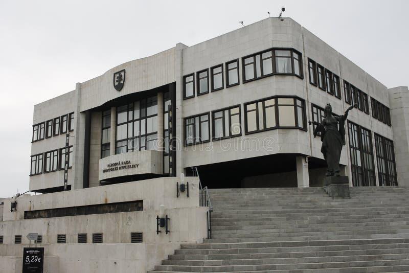 Il palazzo slovacco del Parlamento fotografia stock libera da diritti