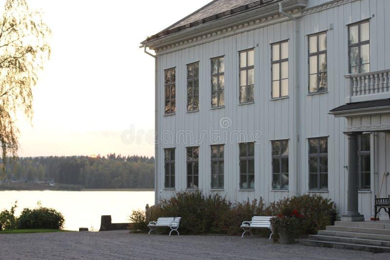 Il palazzo in Uddeholm, Svezia fotografia stock