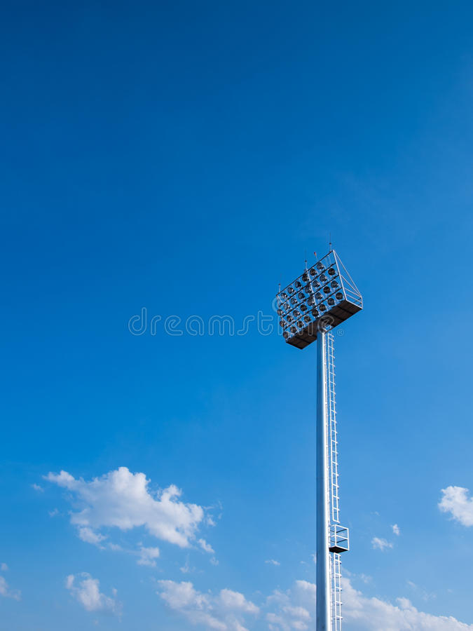 Il palo della luce fotografia stock