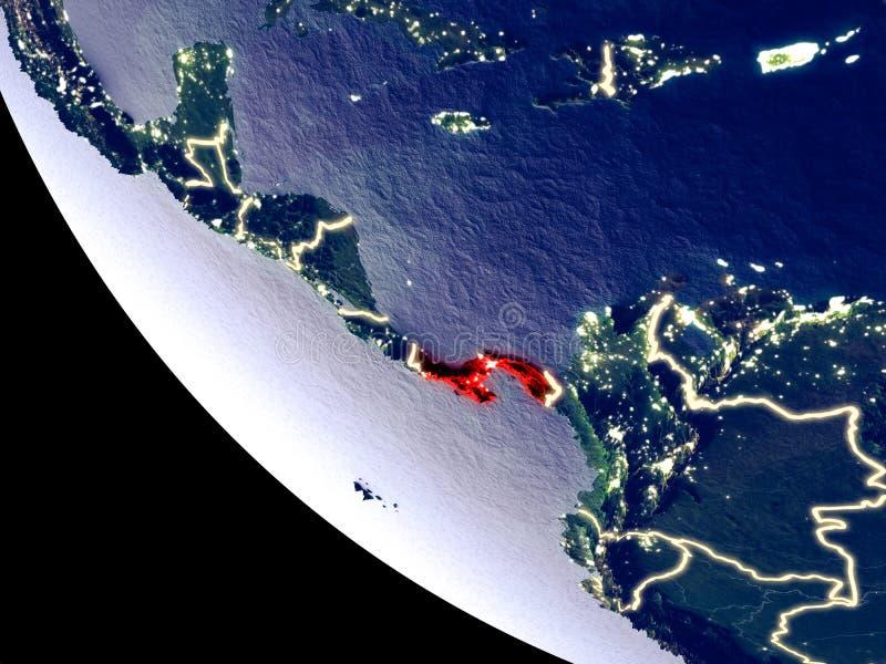 Il Panama da spazio su terra immagine stock libera da diritti