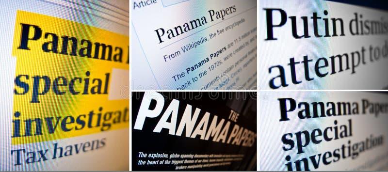 Il Panama incarta il collage di concetto della perdita immagini stock libere da diritti