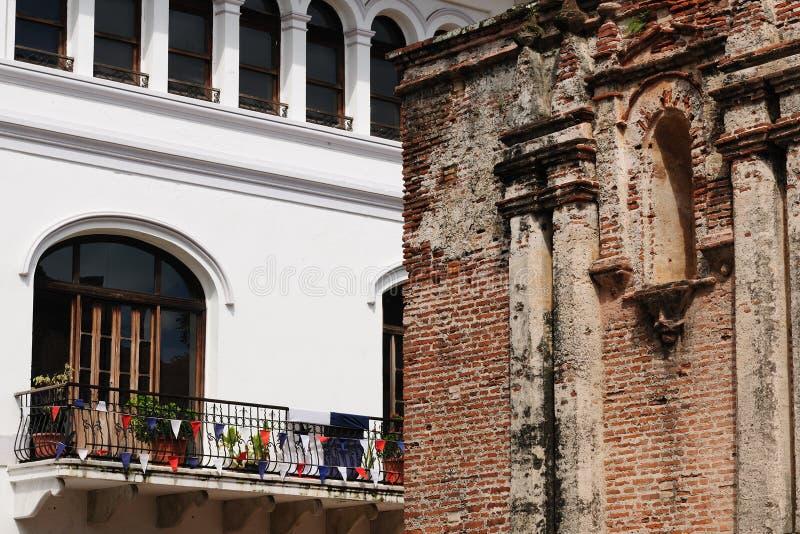 Il Panama, vista su Panama City coloniale immagini stock