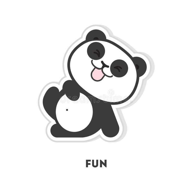 Il panda sta divertendosi illustrazione vettoriale