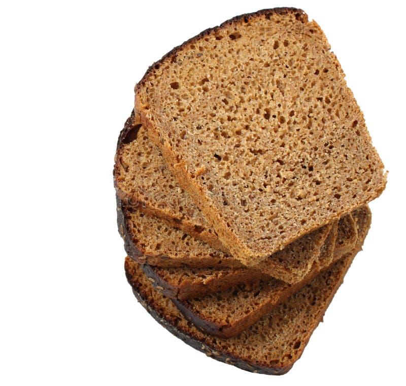 Il pane di segale del taglio fotografia stock libera da diritti