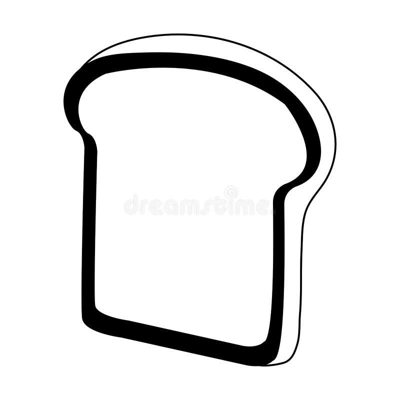 Il pane ha affettato isolato in bianco e nero royalty illustrazione gratis