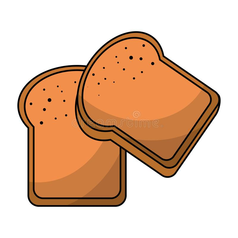 Il pane ha affettato l'alimento del grano isolato illustrazione di stock