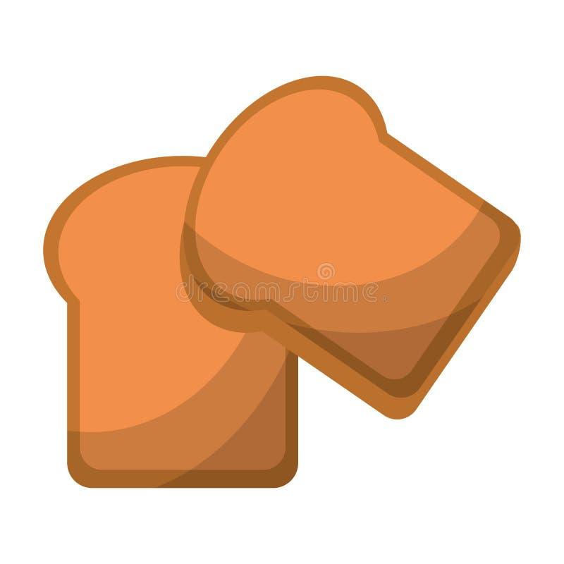 Il pane ha affettato l'illustrazione di vettore isolata alimento del grano royalty illustrazione gratis