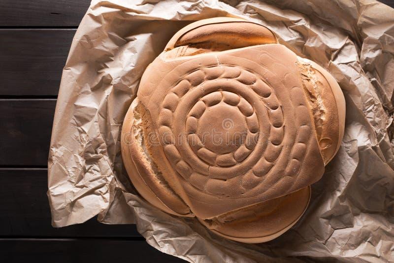 Il pane spagnolo tipico del pane rustico ha chiamato candeal immagine stock libera da diritti