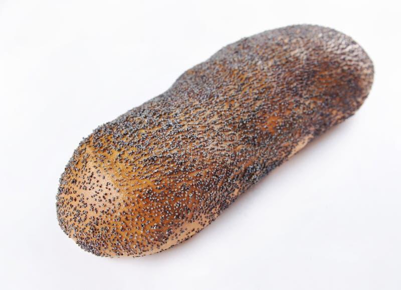 Il panino ha impolverato con i semi di papavero fotografia stock libera da diritti