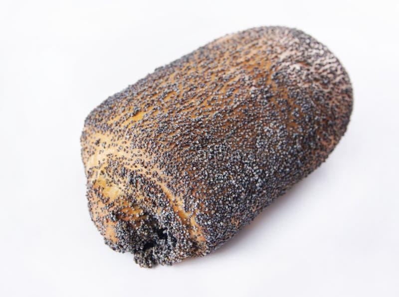 Il panino ha impolverato con il seme di papavero fotografia stock libera da diritti