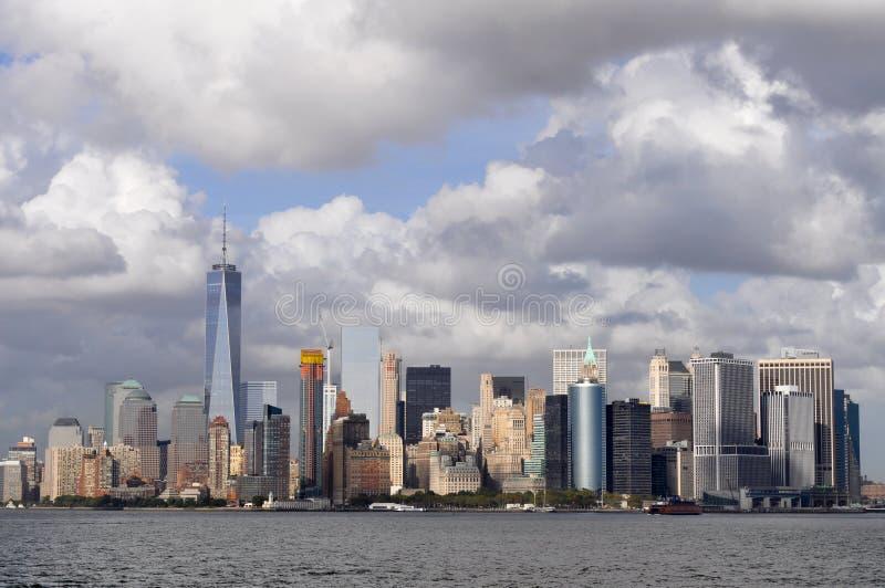 Il panorama del Lower Manhattan, New York fotografia stock libera da diritti