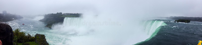 Il panorama delle cascate abbellisce il cascate del Niagara, Toronto immagini stock libere da diritti