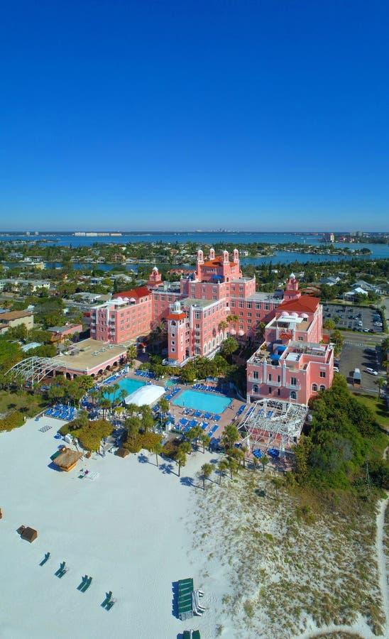 Il panorama di verticale di Don CeSar St Petersburg Beach Florida U.S.A. fotografie stock libere da diritti