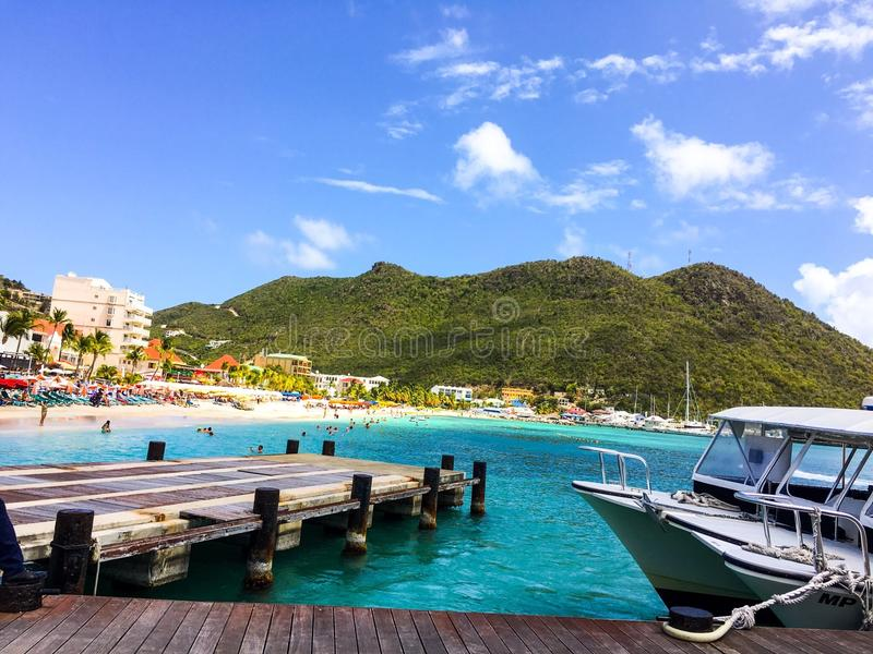 Il paradiso i Caraibi vive fotografia stock