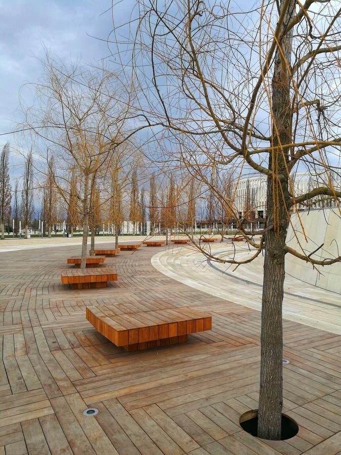 Il parco autunnale di Krasnodar fotografie stock libere da diritti