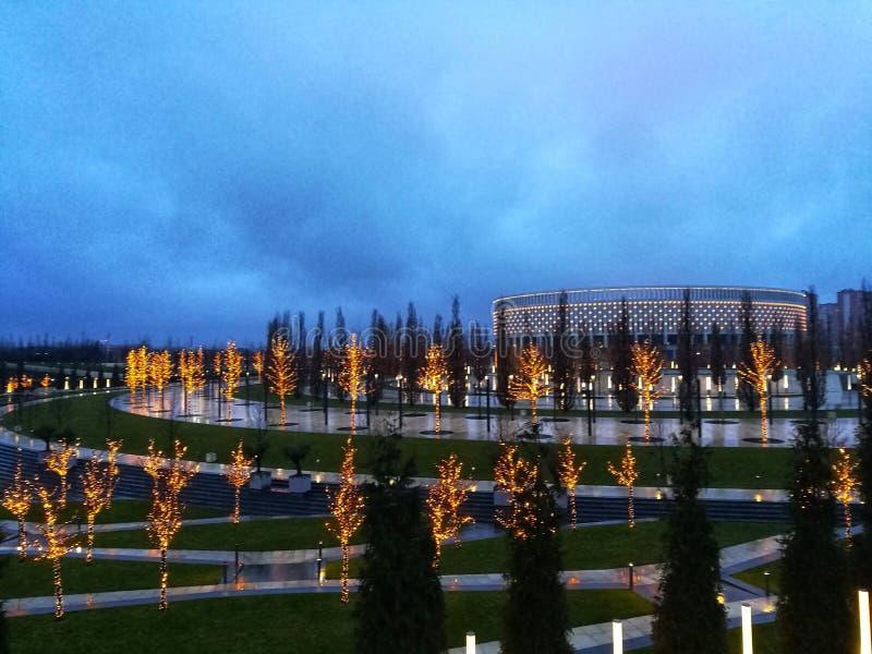 Il parco autunnale di Krasnodar immagine stock