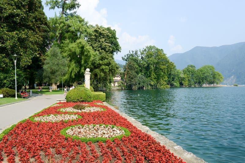 Il parco botanico di Ciani a Lugano sulla Svizzera fotografia stock