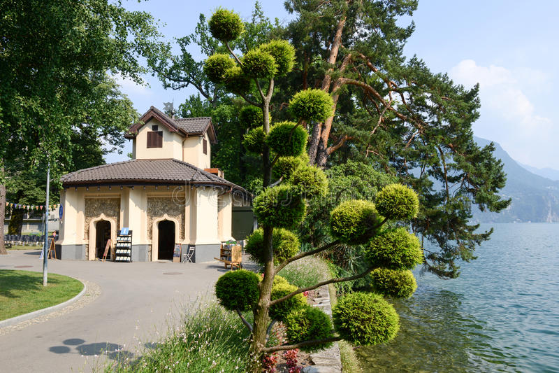 Il parco botanico di Ciani a Lugano sulla Svizzera fotografia stock libera da diritti
