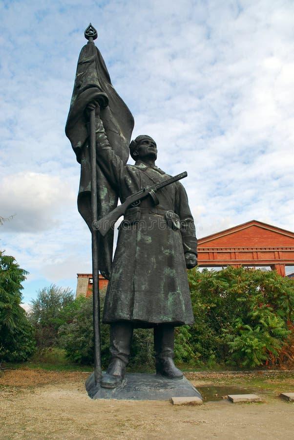 Statua del soldato dell'Armata Rossa, parco del ricordo fotografia stock libera da diritti