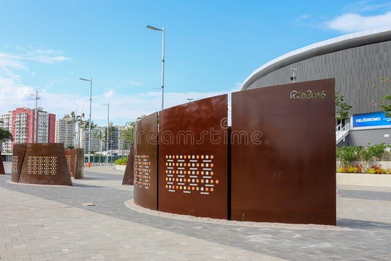 Il parco olimpico Rio 2016 è stato trasformato in un'area di svago b immagine stock libera da diritti