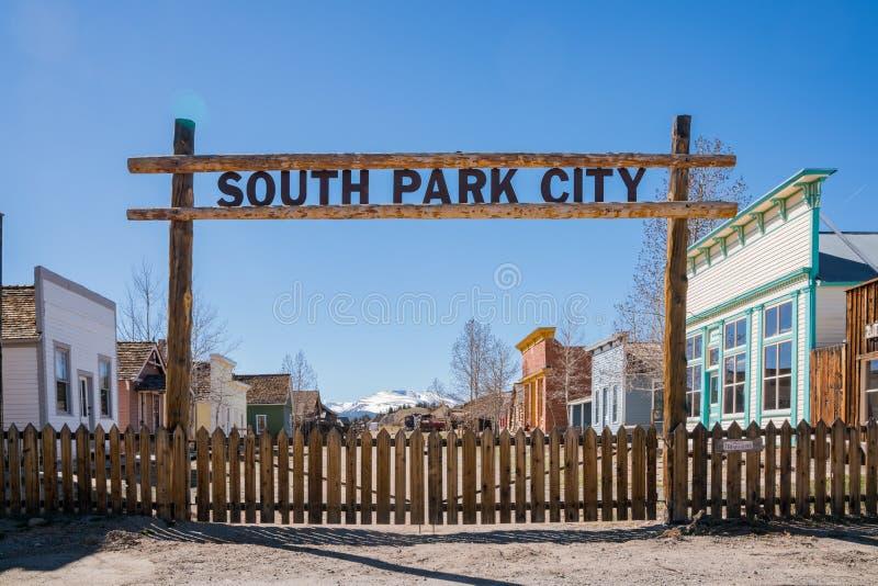 Il Park City del sud storico immagini stock