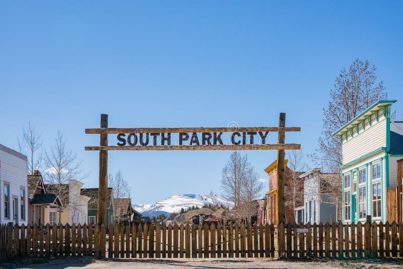 Il Park City del sud storico fotografia stock