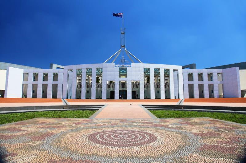 Il Parlamento australiano alloggia a Canberra fotografia stock libera da diritti