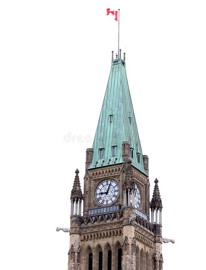 Il Parlamento canadese si concentra il blocco immagini stock libere da diritti