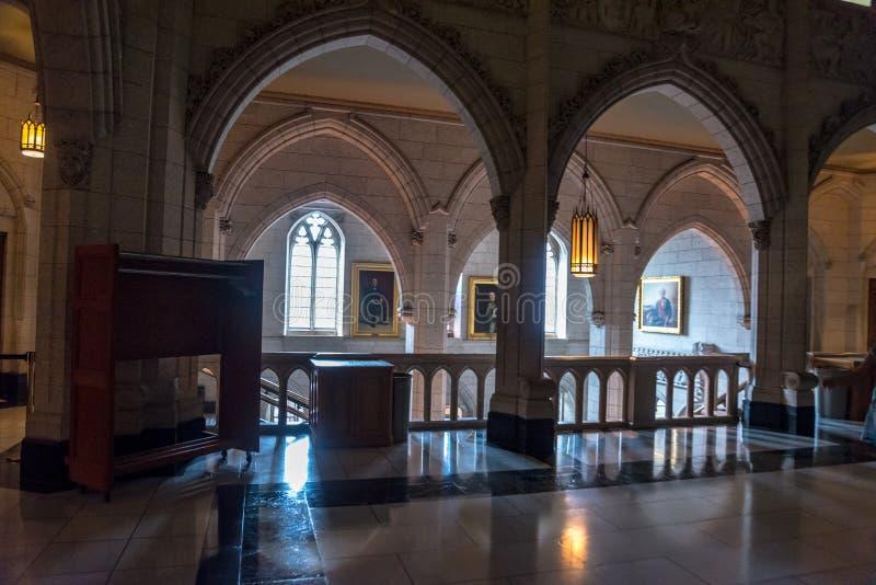 Il Parlamento del Canada: Interno fotografia stock libera da diritti