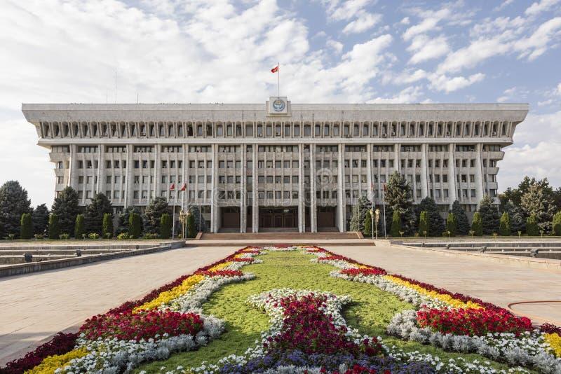 Il Parlamento della Repubblica Kirghiza a Biškek fotografia stock