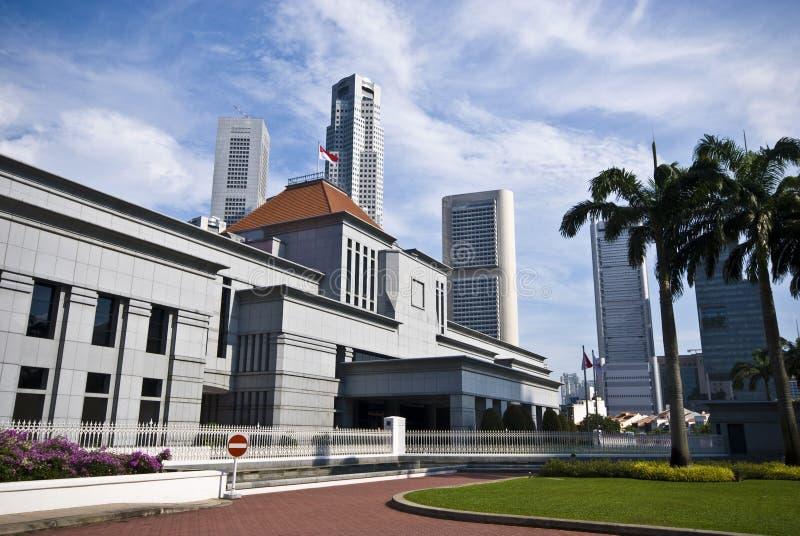 Il Parlamento di Singapore immagini stock